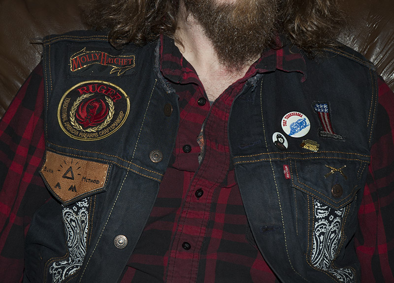 burnmethod, denim, biker, vest, ftw, acdc, eagle, paisley, usa, rock, roll
