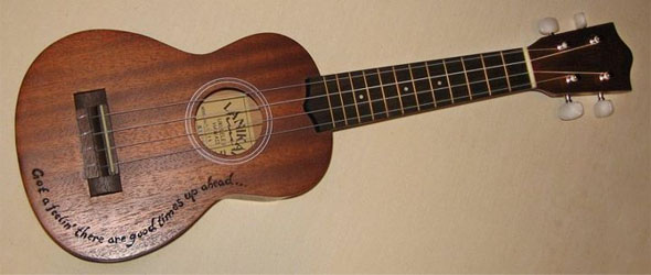 ukelele, inscribed, burnmethod, engraved, pyrography, wood burning, acoustic, inscription, personalized