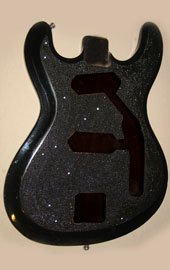 burnmethod, guitar, guitars, pyrography, custom, wood burning, engraved, refinish, hi flyer, bass, cosmos, cosmic, nebula, space, swarovski crystal, hand painted, paint swirl