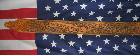 burnmethod, guitar, strap, pyrography, custom, wood burning, engraved, personalized, leather, paisley, scrollwork, banner, lyrics, quote